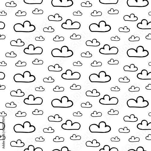 deszcz obrazy na p tnie fototapety na wymiar obrazy na cian Li Element zdj cia na p tnie fototapety obrazy seamless pattern hand drawn clouds doodle black