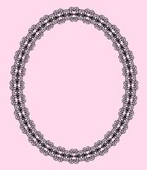 oval openwork frame