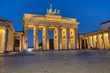 The famous illuminated Brandenburger Tor in Berlin at dawn