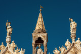 Statues on the top of St Mark's Basilica, Venice, Italy