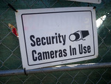 security camera in use sign - 230274109