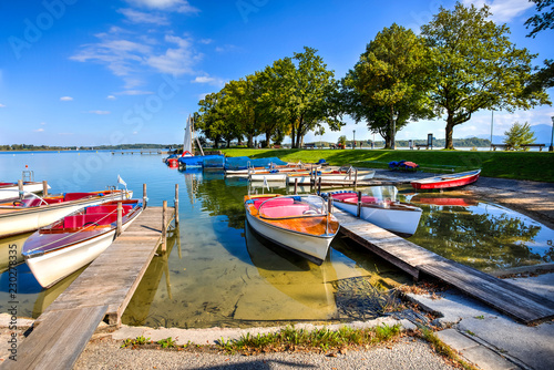 Acrylglas Pier Chiemsee Lake, Bavaria, Germany