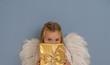 Leinwandbild Motiv girl awaiting christmastime