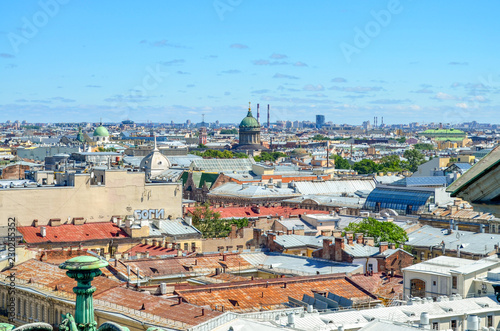 Russia. Saint-Petersburg. Roofs of the city from the height of St. Isaac's Cathedral - 230285352