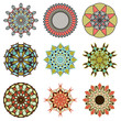 Set of six decorative mandala