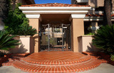 front gate of apartment building - 230297762