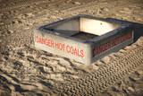 fire pit on beach sand - 230297988