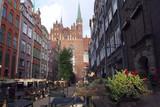 Polska, Gdańsk - ulica Mariacka i Bazylika Mariacka