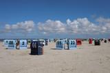 Strandkörbe an der Nordsee - Stockfoto - 230313378