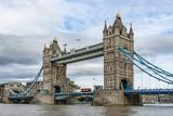 Tower Bridge on Thames river looking in London, England, UK