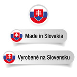 Made in Slovakia label set