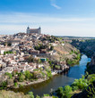 Leinwandbild Motiv Toledo surrounded by the Targus river