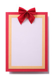 Christmas card red frame vertical - 230322921