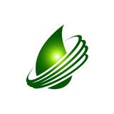 Water drop Logo design vector template. Natural Mineral Aqua icon. Water drop liquid Oil Logotype concept icon - 230334778