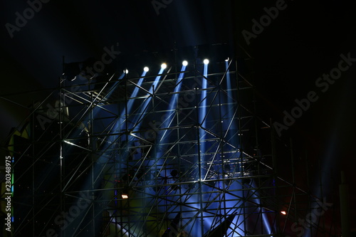 Stage lighting effect in the dark, close-up pictures - 230348975
