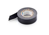 old black Sticky tape roll, black scotch tape on white background - 230349363