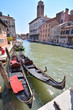 gondolas in venice, digital photo picture as a background
