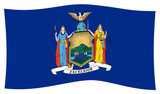 New York State Flag wave