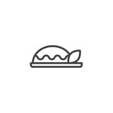 Curry plate outline icon. linear style sign for mobile concept and web design. Asian food simple line vector icon. Symbol, logo illustration. Pixel perfect vector graphics - 230359933
