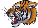 Angry tiger head mascot - 230363397