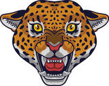 Angry leopard head mascot - 230363557