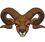 Angry goat head mascot - 230363712