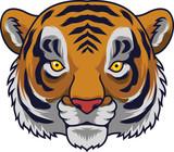 Cartoon Tiger head mascot - 230363904