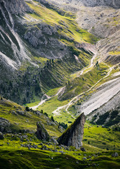 Seceda mountain in the Dolomites, South Tyrol, Italy, Europe