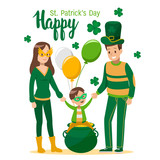 Happy St. Patrick's Day cartoon vector design. no4