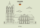 City Hall in Cologne, Germany. Landmark icon - 230402710