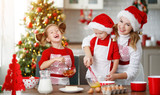 happy family bake christmas cookies - 230403553