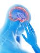 3d rendered illustration of a man having a headache