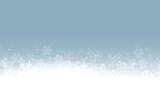 Blaue Schneelandschaft Schneeflocken