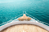 luxury yacht, stern interior, comfortable design for rest leisure tourism travel - 230414358