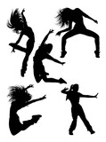 Attractive modern dancer silhouette. Good use for symbol, logo, web icon, mascot, sign, or any design you want. - 230416370