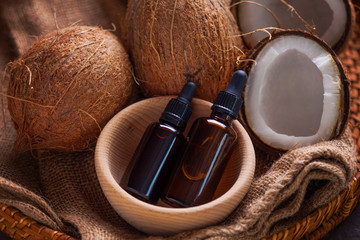 coconut oil with coconuts