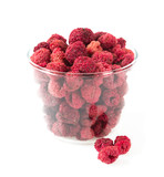 dried raspberries isolated on white - 230421310
