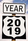 Year 2019 written on american roadsign - 230422796