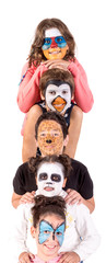 Kids with animal face-paint © Luis Louro