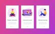 Digital classroom app interface template.