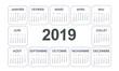 Quadro Calendrier 2019