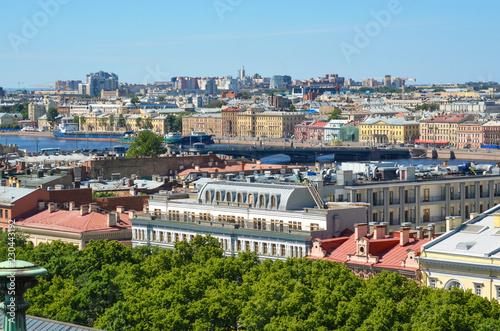 Russia. Saint-Petersburg. Neva, Blagoveshchensky bridge, the embankment of Lieutenant Schmidt
