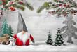 Leinwanddruck Bild - Dekorierte Szene für Weihnachten und Winter