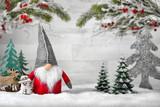 Dekorierte Szene für Weihnachten und Winter