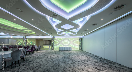 Interior of empty ceremonial hall
