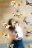 Butterfly in museum with audiences - 230453769