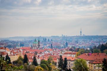 Vue panoramique sur la ville de Prague