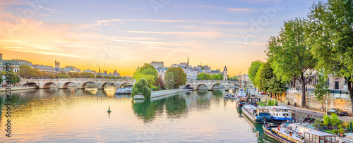 Sunrise view of old town skyline in Paris - 230473980
