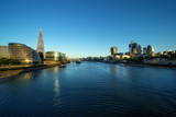 morning in London, river Thames from Tower Bridge, UK - 230474939