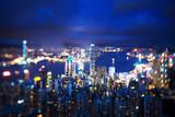 Hong Kong from Victoria peak, ltilt shift photo - 230475115